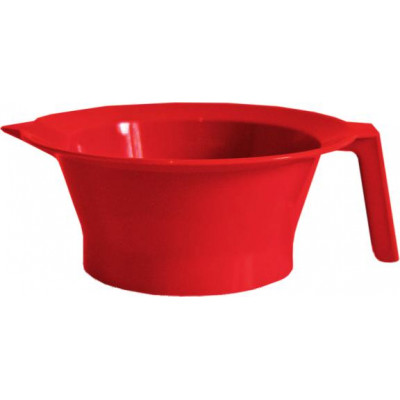 Мисочка для окрашивания волос с ручкой TICO Professional 500104 Красная