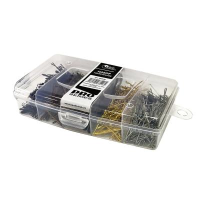 Набор TICO Professional невидимки ровные 50 мм + зажим пластиковый (300649)