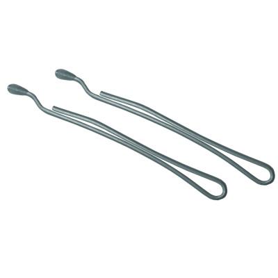 Невидимки TICO Professional укороченные (300615) - Серебристые (длина 40 мм, вес 200 грамм)