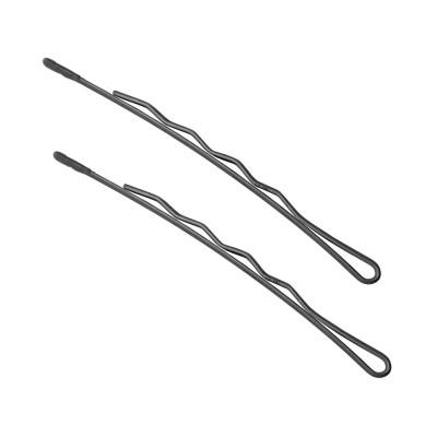 Невидимки TICO Professional укороченные (300624) - Черные (длина 70 мм, вес 200 грамм)