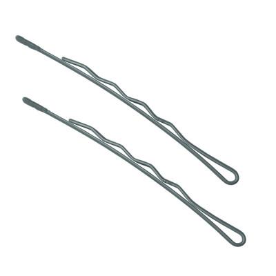Невидимки TICO Professional укороченные (300626) - Серебристые (длина 70 мм, вес 200 грамм)