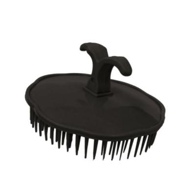 Массажная щетка для шампунирования TICO Professional черная (600200)