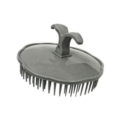 Массажная щетка для шампунирования TICO Professional серая (600202)