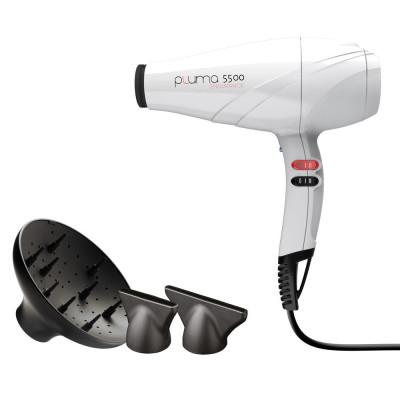 Профессиональный фен для волос GA.MA (ГАМА) PLUMA 5500 (A11.PL5500.BN) White