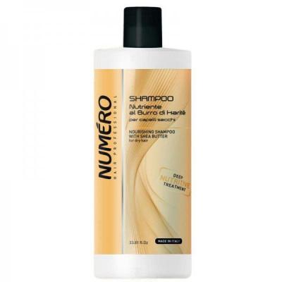 Питательный шампунь для волос с маслами Карите и авокадо Brelil Numero 1000 ml (8011935069699)