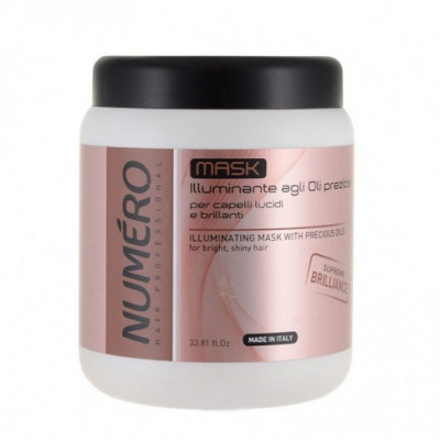 Маска для придания волосам блеска с ценными маслами Brelil Numero 1000 ml (71784)