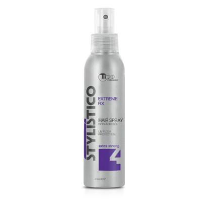 Рідкий лак для волосся (лак-спрей) екстра сильної фіксації TICO Professional Stylistico Extreme Fix
