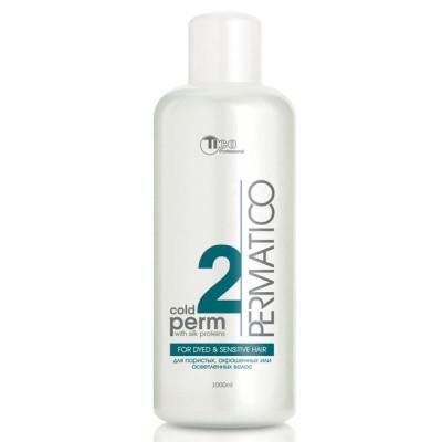 Лосьон для химической завивки (для пористых, окрашенных или осветленных волос) TICO Professional №2 Cold PERM 1000 ml (50005)